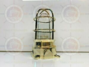 POST MOUNTED SOLID BULKHEAD LIGHT FIXTURE NAUTICAL WITH JUNCTION BOX BRASS