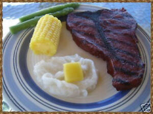 Grilled Steak Dinner, Fake Wax Food, Food Prop, Decor, Handmade