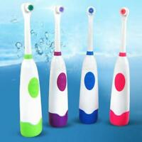 Rotating Anti Slip Waterproof Electric Toothbrush Clean Oral with 2 Brush Heads
