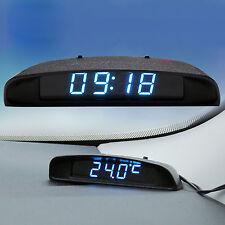 12V Digital LED Alarm Electronic Clock Car Thermometer Voltmeter Calendar New