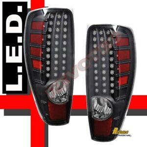 2004-2012 Chevy Colorado GMC Canyon Pickup Black LED Tail Lights RH + LH