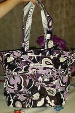 Ju Ju Be JuJuBe Be Spicy Purple Paisley Baby Nappy Bag w/ Shoulder & Pram Straps