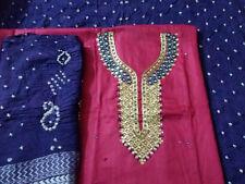 Suit Dress Material Women ethnic wear Soft Cotton Fabric with Mirror,Gota patti