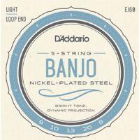 D'Addario EJ60 5 String Banjo Nickle Light 9-20 j60