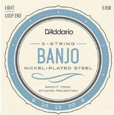 2 sets D'Addario EJ60 5 String Banjo Nickle Light 9-20 j60