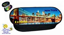 trousse à crayons ECOLIER  REF 147 NEW YORK personnalisée avec prénom