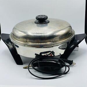 🍳 Original SALADMASTER Model K7356 Digital Oil Core Electric Skillet VAPO LID
