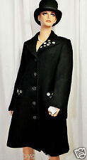 SAVE THE QUEEN NWT BLACK EMBELLISHED COAT 3/4  GORGEOUS M $ 550.00 UNIQUE RARE