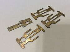 Vintage Lot of 4 Brass Pan Chassis parts AJ's & LA Ganke Aurora T-Jet LQQK Nice