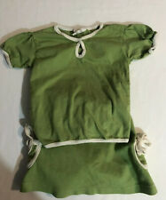 Kate Quinn Earth Organics Infant Girl Green Outfit 0-3 Months