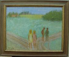 Einar Lindberg *1916, Spaziergang im Grünen, datiert 1948