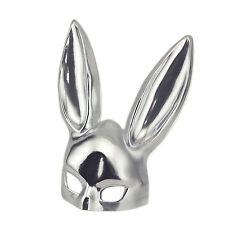 Silver Bondage Bunny Masquerade Kinky Rabbit Mask Costume Halloween Prop