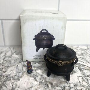 Boyds Bear Creepella's Cauldron With Wiz McBibble Treasure Box 1E 4016649