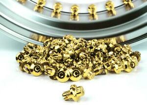 100 PCS 24K GOLD WHEEL RIVETS FOR WHEEL/RIM Spike 7.6mm Universal New