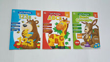 Preschool Learning Workbooks (set of 3) Letters Numbers Colors Shapes    New