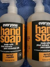 EVERYONE Hand Soap Apricot Vanilla. 12.75 Oz. Each Lot Of 2.