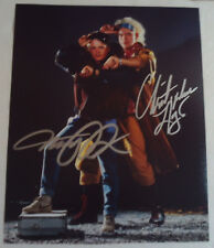 Vintage Michael J Fox Christopher Lloyd AUTOGRAPH BACK TO THE FUTURE Movie Photo