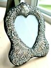 7 75  VINTAGE STERLING SILVER PICTURE FRAME ORNATE REPOUSSE FLORAL CARTOUCHE
