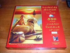 """SUNSOUT PUZZLE, 550 PIECE PUZZLE, """"DOCKSIDE SUNSET""""."""