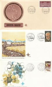 SOUTH AFRICA 10 UNADDRESSED FIRST DAY COVERS 2 HAVE BONUS MNH STAMPS