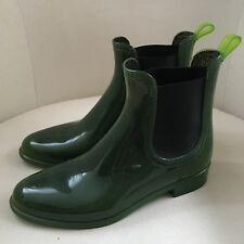 JEFFREY CAMPBELL Gummistiefel Gr. 38 grün Jellies Chelsea Boots Stiefeletten