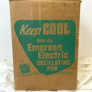 Vintage Emerson Electric Fan NW-120 94646D EMPTY BOX ONLY Oscillating LB