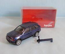 20809 HERPA / GERMANY / BMW X 5 BLEU METAL HO 1/87
