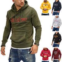Jack & Jones Herren Hoodie Kapuzenpullover mit Print Herrenpullover Sweater