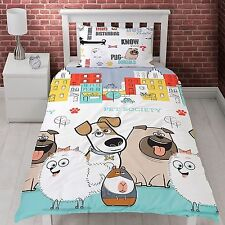 COPRIPIUMINO The Secret Life of Pets Animals COPRILETTO  140x200 set 2 pezzi