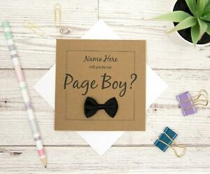 Will You Be My Page Boy? - Personalised Page Boy Proposal Card - Page Boy Card
