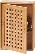 Key Box Bamboo 19x6x27cm Bamboo Key Closet Key Wardrobe New