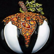 "NIB HEIDI DAUS FALL THANKSGIVING HALLOWEEN PUMPKIN PIN BROOCH JEWELRY 2""$169 LRG"