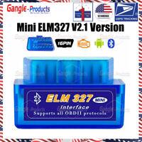 ELM327 Androide Bluetooth V2.1 OBDII Car Diagnostic Tool Interface Code Reader