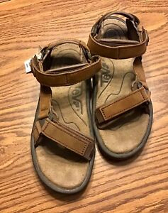 Teva Circuit Hiking Sandals Active Shank Brown Leather Adjustable 6026 NEW 8 W
