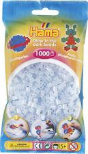 Hama 1000 Midi Bügelperlen 207-57 Leucht-Blau (nachtleuchtend) Ø 5 mm Perlen