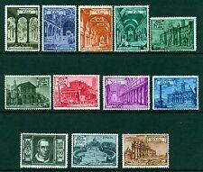 1949 Vaticano PIO XII Basiliche Romane Serie cpl 12 Val. Cat. Bolaffi 122/31+Ex+