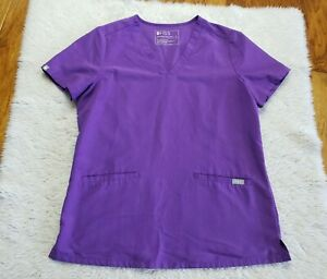 Figs Women's Ultra Violet Casma Three Pocket Scrub Top Women's Small