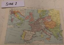 Empire of Napoleon / Europe in 1914 and 1923: Chambers's Encyclopaedia Map