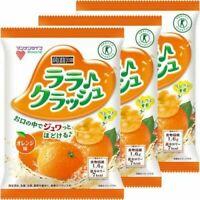 MANNAN LIFE KONJAC BATAKE Crashed Diet Jelly Orange 24gx8pieces 3sets Japan