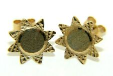 Pair of Ladies Womens 9ct 9carat Yellow Gold Butterfly Back Star Stud Earrings