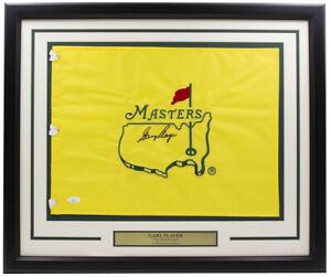 Gary Player Signed Framed Masters Golf Flag JSA