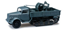 Herpa Minitanks 744645 OPEL Blitz Halbkette mit Flakaufbau Wehrmachtsgrau