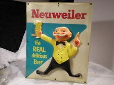 1960 NEUWEILER OLD MAN CELLULOID LIGHTED BEER SIGN