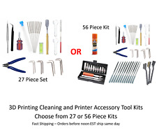3D Printing Cleaning & Printer Accessory Tool Kit : Needles Knives Files Pliers