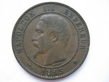 France 1853-BB 10 (Dix) Centimes VF