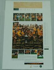 Australian Wallabies Bledisloe Cup Miracle Squad & Coach Signed Print