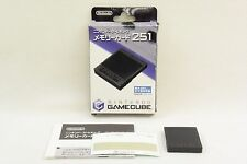 Game Cube Memory Card 251 Official BLACK DOL-008 Boxed Ref/1925 Nintendo Japan