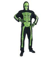 MKS Halloween Vestimenta de Carnaval Fiestas Neón Esqueleto Verde 158CM