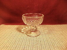 "Vintage L G Wright Glass Panel Grape Clear Champagne Sherbert Stem 4"" x 3 5/8"""