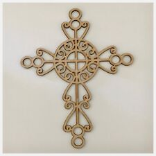 Decorative Cross MDF Timber DIY Raw Cut Out Art Religious Craft Decor 3mm